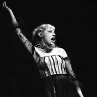Lotte Lenya on stage
