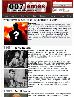 Who Played James Bond article
