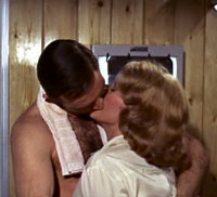 Patricia Fearing kissing James Bond