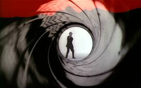 Bob Simmons as James Bond in the Gun Barrel Sequence