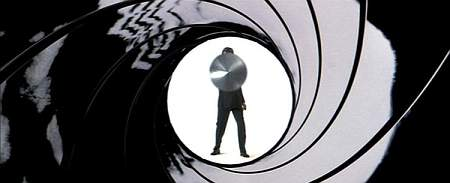 Pierce Brosnan as James Bond in the Gun Barrel Sequence