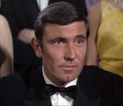 George Lazenby as James Bond in OHMSS (1969)