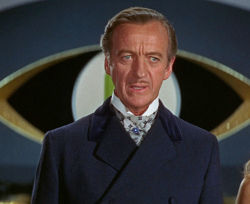 David Niven as James Bond in the 1967 spoof Casino Royale