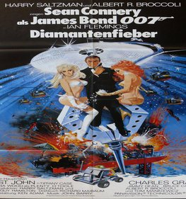 Diamonds Are Forever German Poster