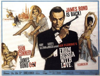 From Russia with Love Hand Drawn Poster