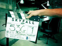 Skyfall on set