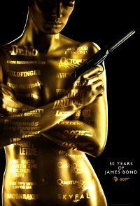 James Bond 50th anniversary poster