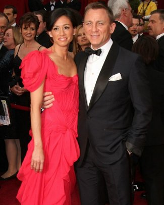 Daniel Craig with his girlfriend at the Oscars