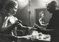 Shirley Eaton Backstage on Goldfinger